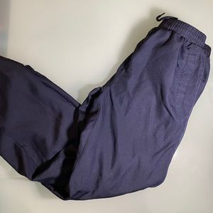 Boys lined track pants navy zipper bottoms